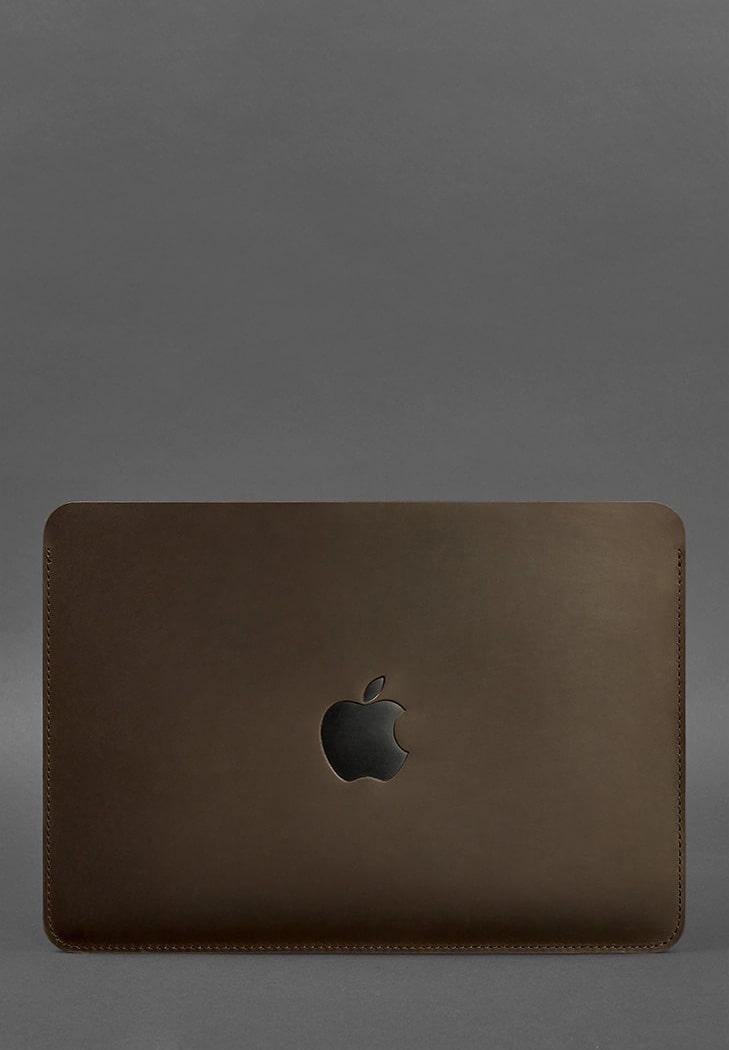 Фото Горизонтальный кожаный чехол для MacBook Air/Pro 13'' Темно-коричневый