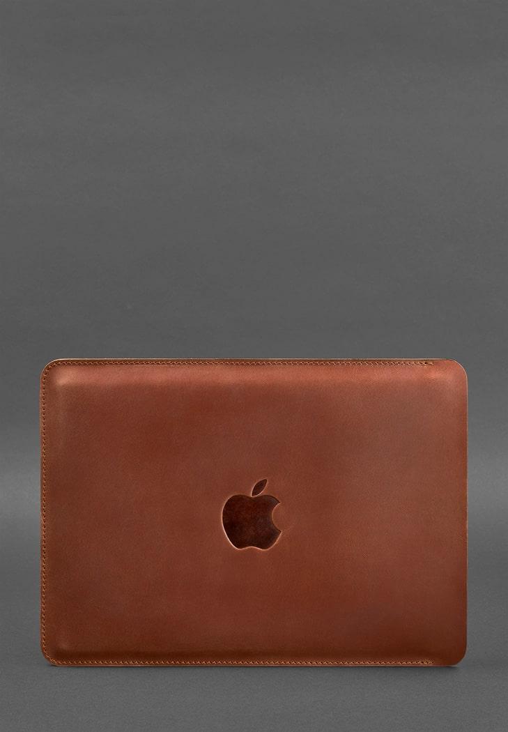 Фото Кожаный чехол для MacBook Pro 15''-16''(2020) Светло-коричневый BlankNote