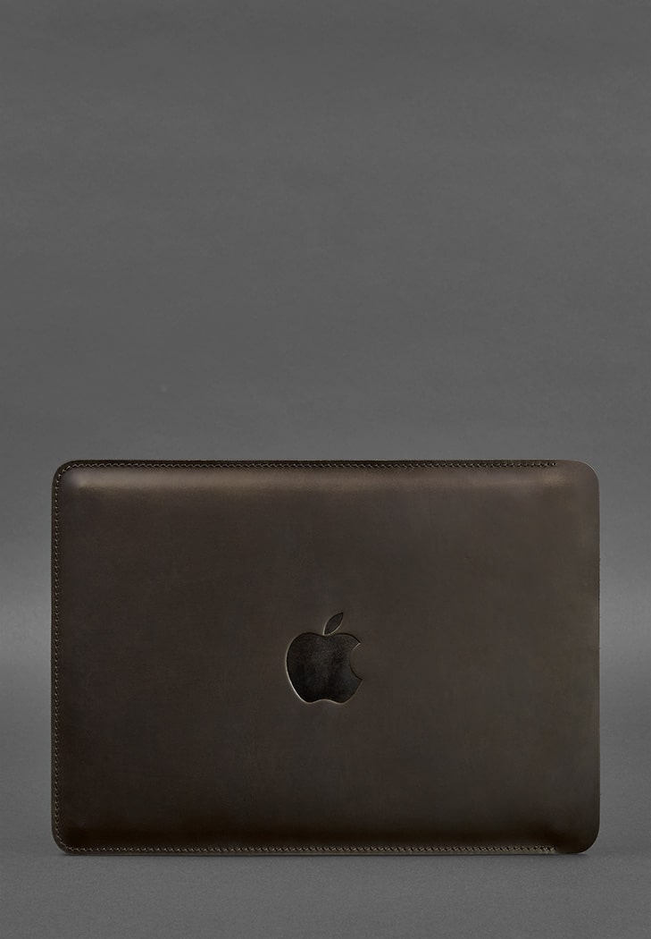 Фото Кожаный чехол для MacBook Air/Pro 15''-16''(2020) Темно-коричневый