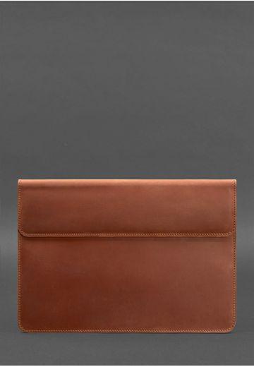 Кожаный чехол-конверт на магнитах для MacBook Air/Pro 13'' Светло-коричневый