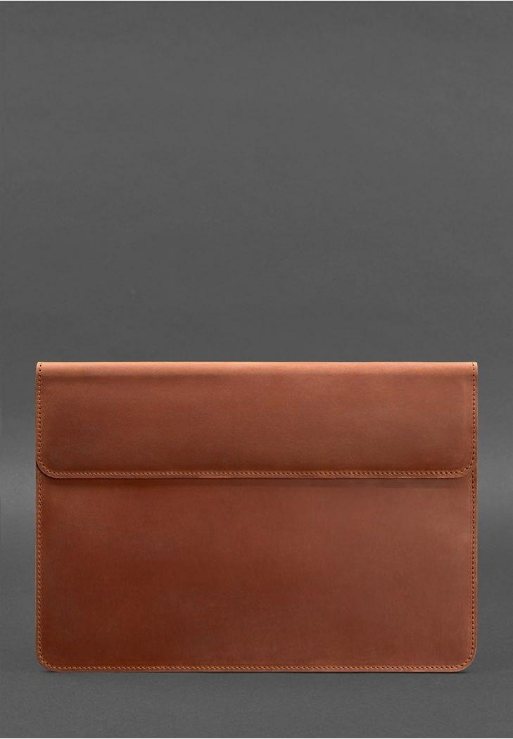 Фото Кожаный чехол-конверт на магнитах для MacBook Air/Pro 13'' Светло-коричневый