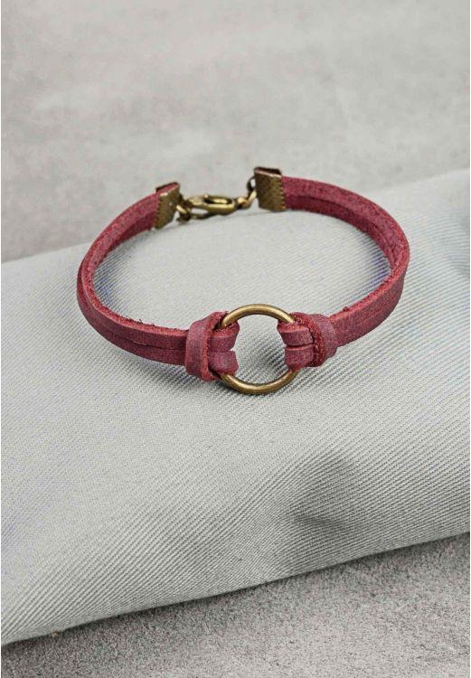Фото Браслет кожаный с кольцом виноград BlankNote