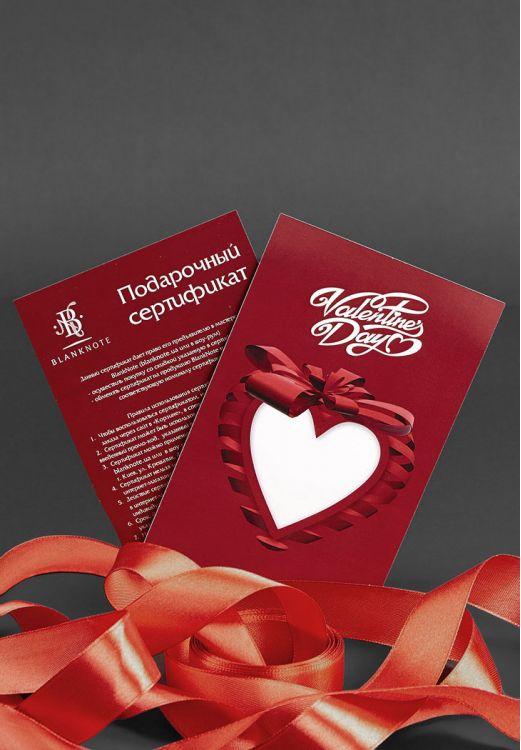 Фото Подарочный сертификат-валентинка 1000грн BlankNote
