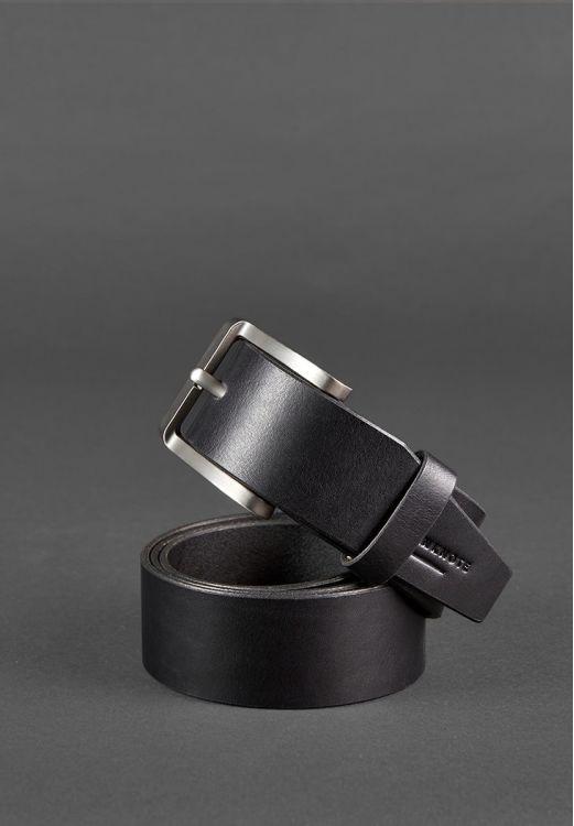 Кожаный ремень черного цвета BlankNote - фото