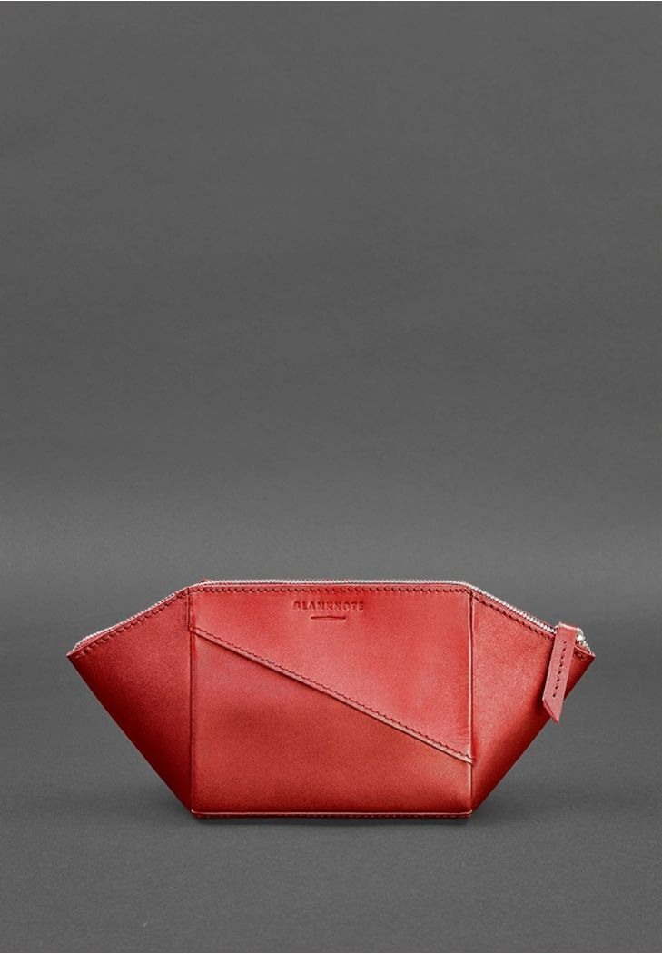 Женская кожаная косметичка Красная - BN-CB-2-red