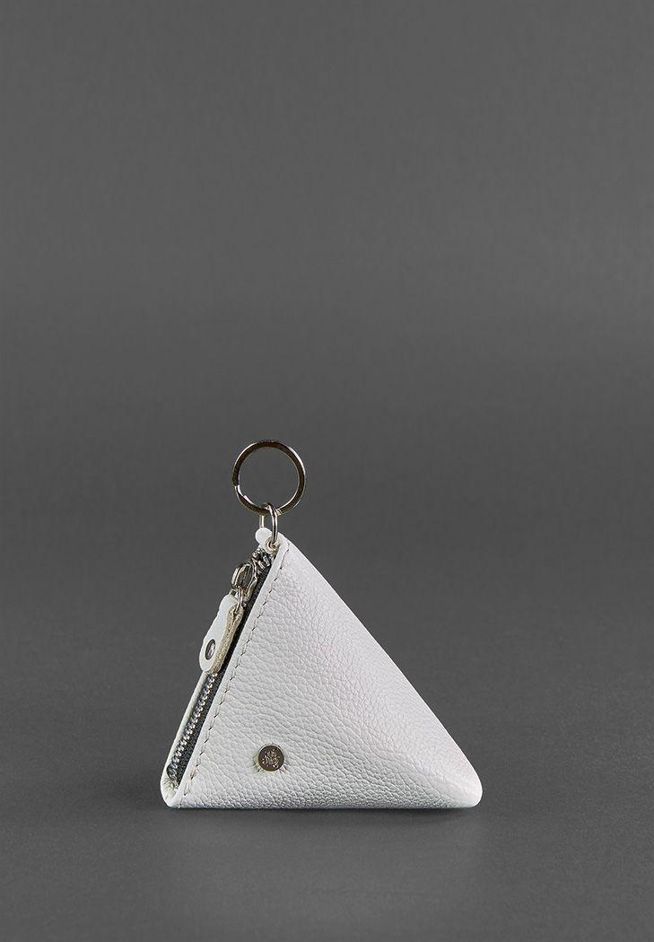 Фото Женская кожаная монетница 2.0 Пирамида белая