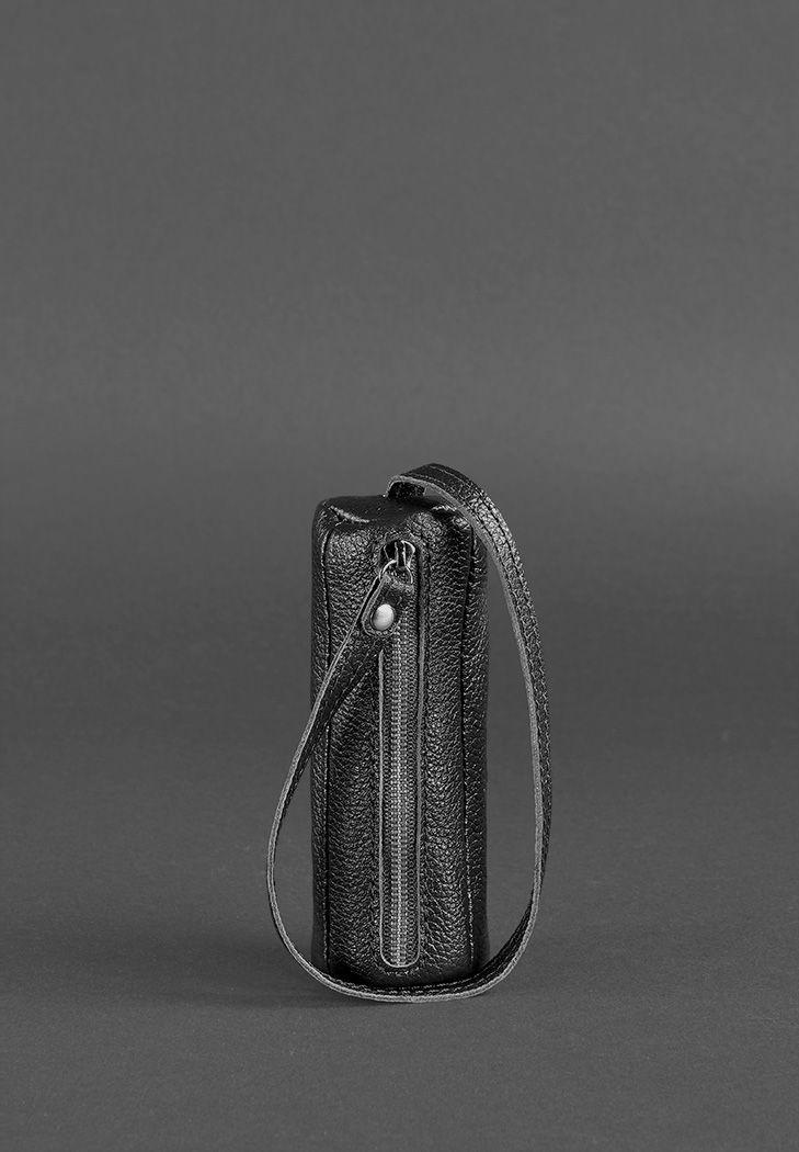 Кожаная ключница 3.0 Тубус черная - BN-KL-3-onix