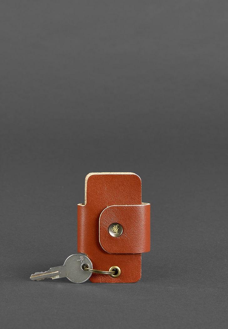 Фото Кожаная ключница смарт-кейс 4.0 светло-коричневая
