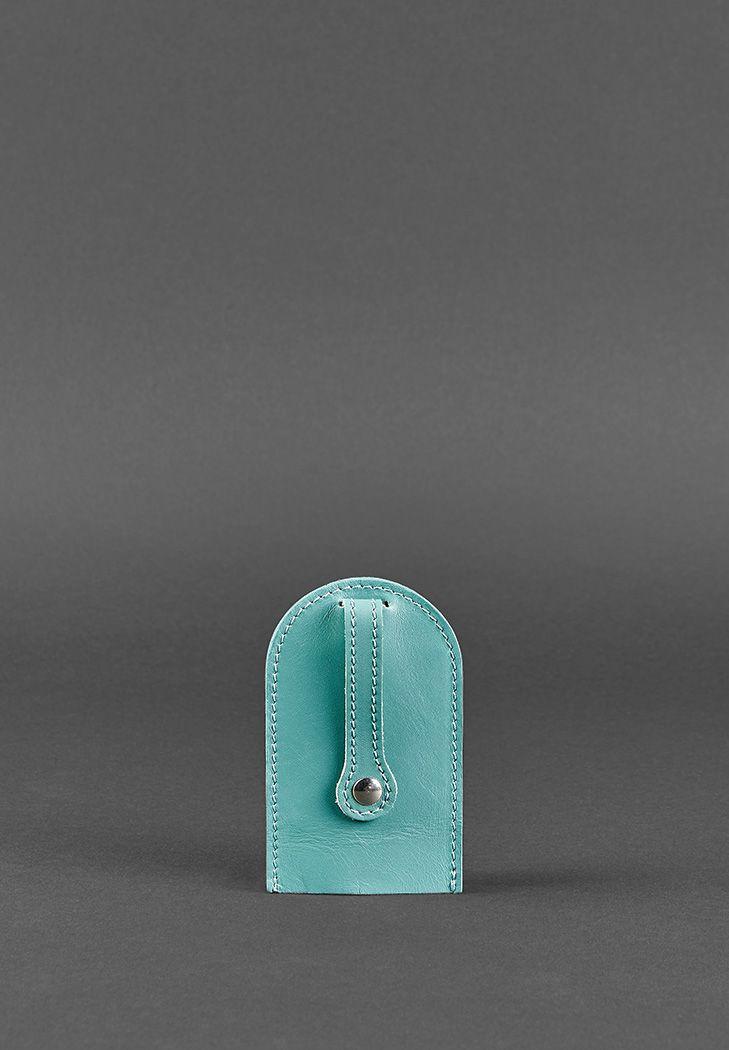 Фото Женская кожаная ключница 2.0 бирюзовая