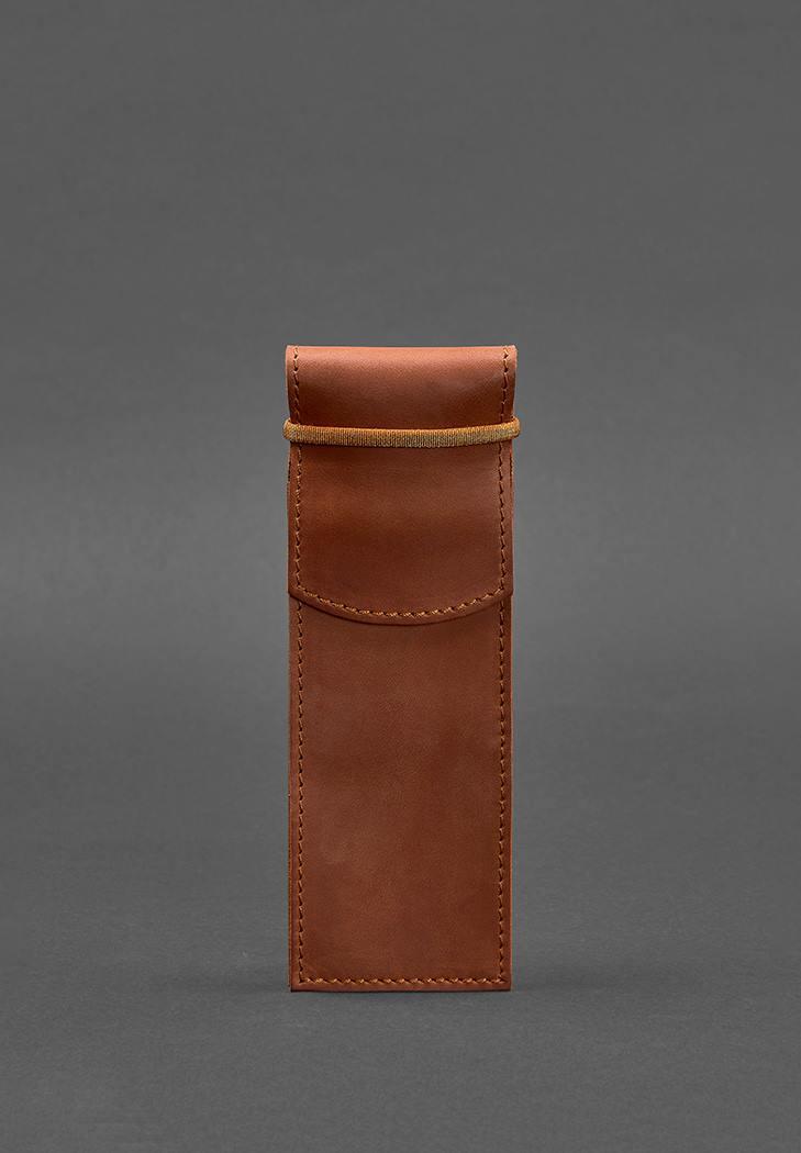 Фото Кожаный чехол для ручек 1.0 светло-коричневый Crazy Horse (BN-CR-1-k-kr)
