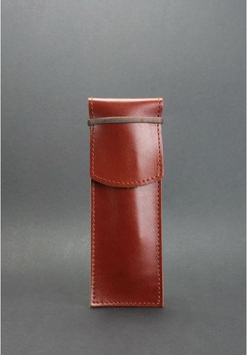 3c94700f5b50dab Чехол для ручек 1.0 Коньяк (+эко-ручка и карандаш) - коричневый. Материал  чехла: натуральная кожа ...