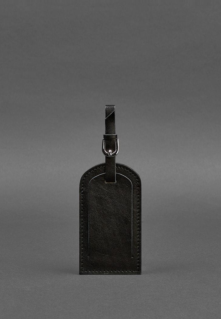 Фото Кожаная бирка для багажа 2.0 Угольно-черная