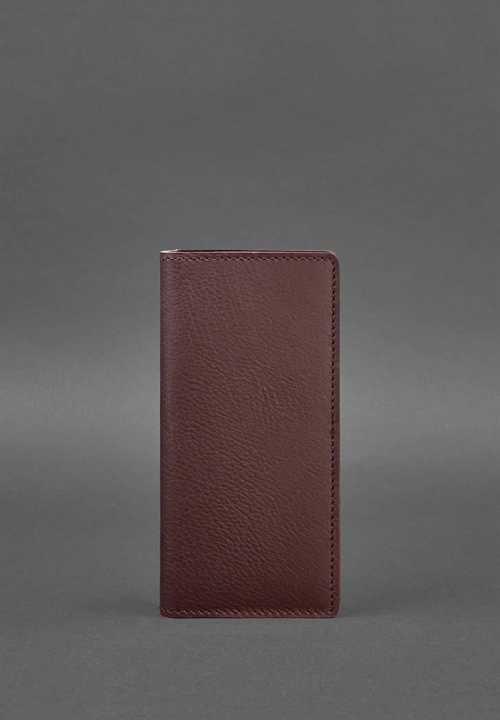 Фото Кожаное женское портмоне-купюрник 11.0 бордовое BlankNote