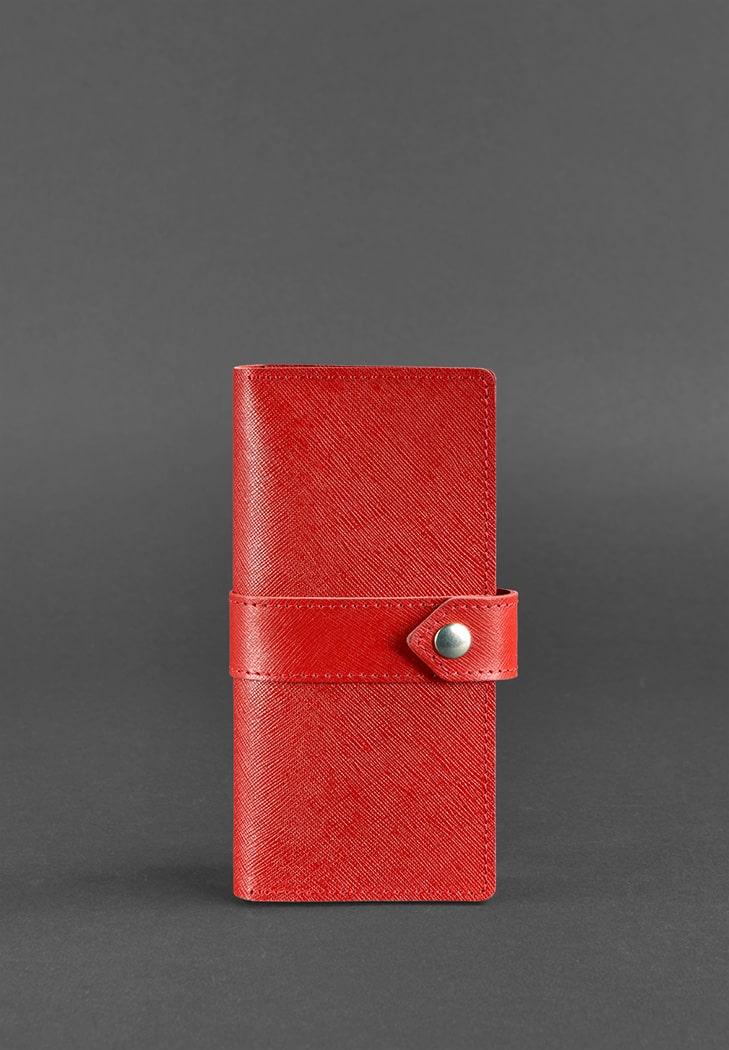 Фото Кожаное портмоне 3.1 красное Saffiano