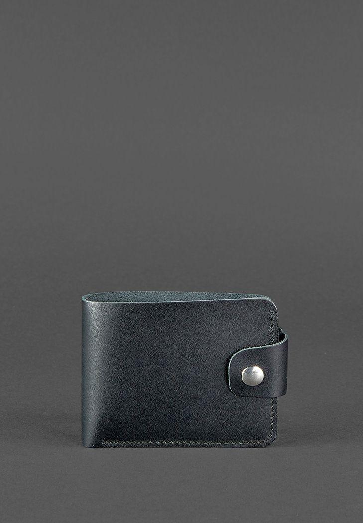 Кожаное портмоне 4.3 черное - BN-PM-4-3-g