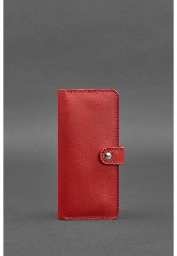 Кожаное женское портмоне 7.0 Красное