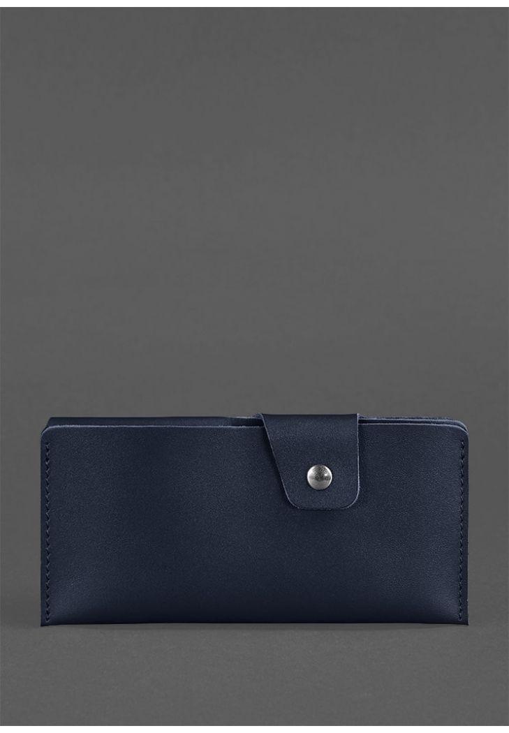 Кожаное портмоне-купюрник 8.0 темно-синее - BN-PM-8-navy-blue