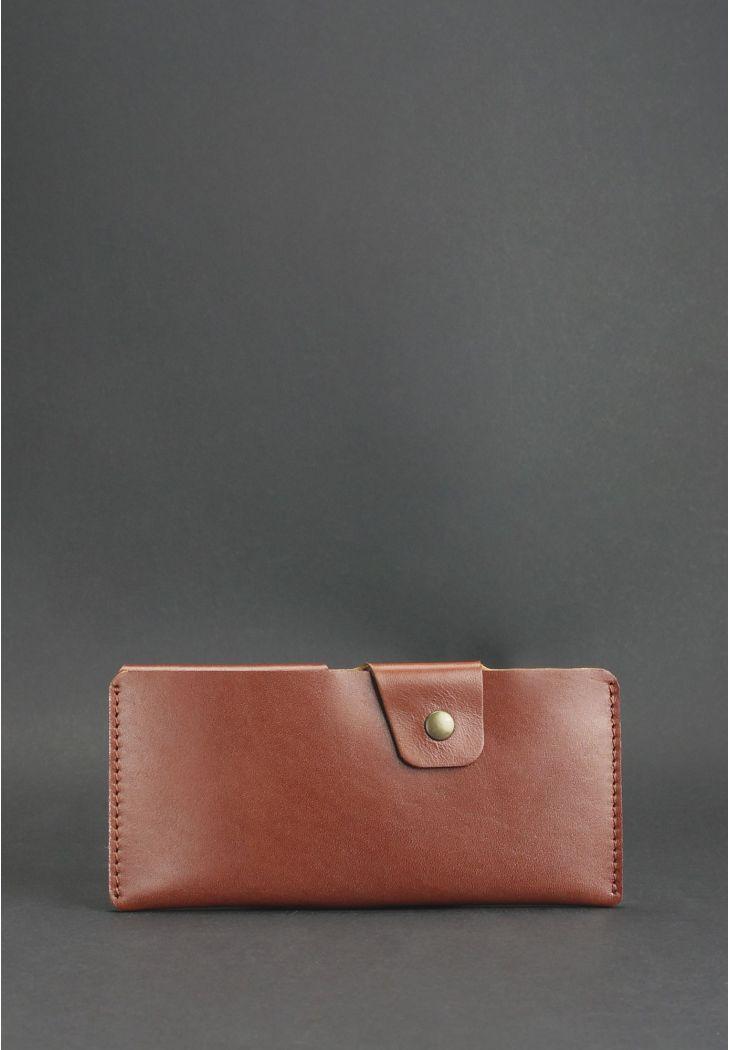 Фото Кожаное портмоне-купюрник 8.0 светло-коричневое