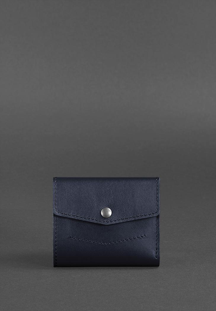 Фото Кожаный кошелек 2.1 темно-синий Краст ( BN-W-2-1-navy-blue )