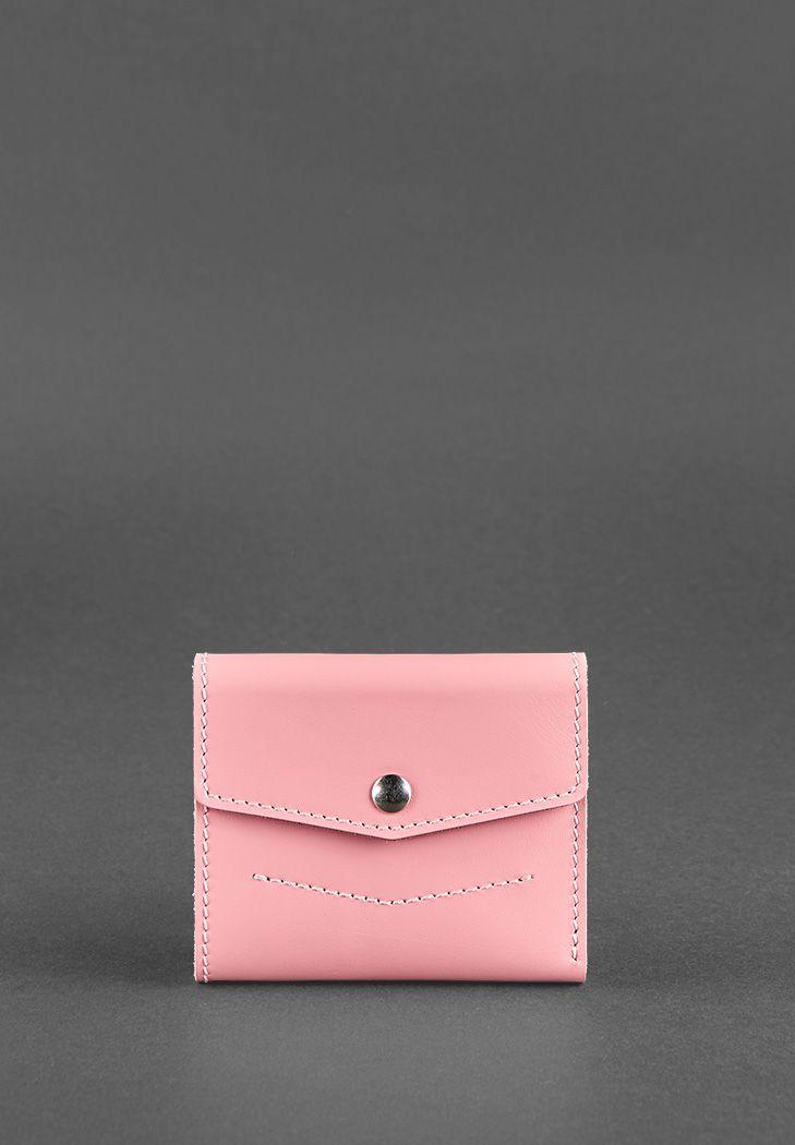 Фото Женский кожаный кошелек 2.1 Розовый