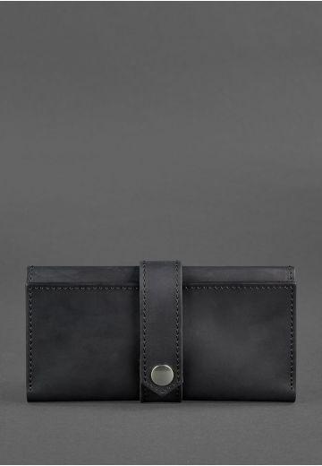 Кожаное портмоне 3.0 черное Crazy Horse