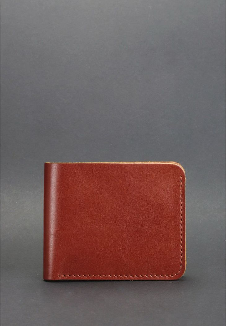 Мужское кожаное портмоне 4.1 (4 кармана) светло-коричневое (BN-PM-4-1-k) - купить по доступной цене в интернет-магазине Blanknote