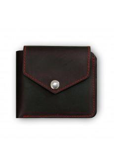 Портмоне 4.2 (4 кармана, кнопка) Графит-клубника