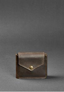 Портмоне 4.2 (4 кармана, кнопка) Орех - коричневый