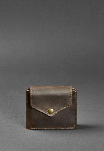 Портмоне 4.2 (4 кишені, кнопка) Горіх - коричневий