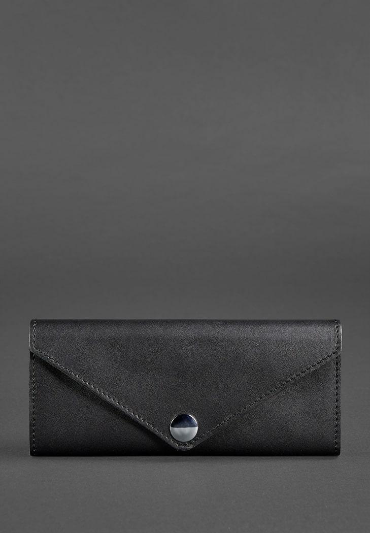 Фото Женский кожаный кошелек Керри 1.0 черный Krast