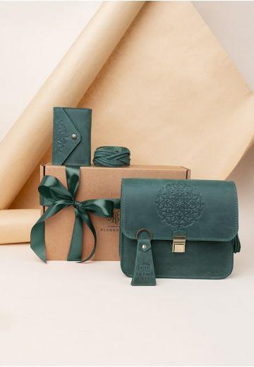 Женский подарочный набор кожаных аксессуаров Монреаль