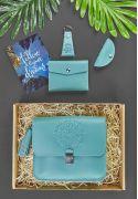 Женский подарочный набор кожаных аксессуаров Лилу Тиффани - BN-set-access-21-tiffany
