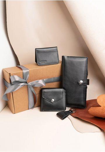 Набор кожаных аксессуаров для путешественника Дублин (кожа krast)