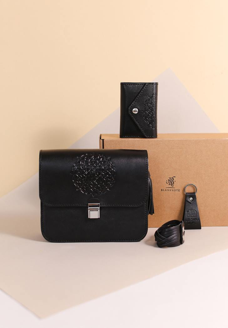 Фото Женский подарочный набор кожаных аксессуаров Денвер (BN-set-access-23-g)