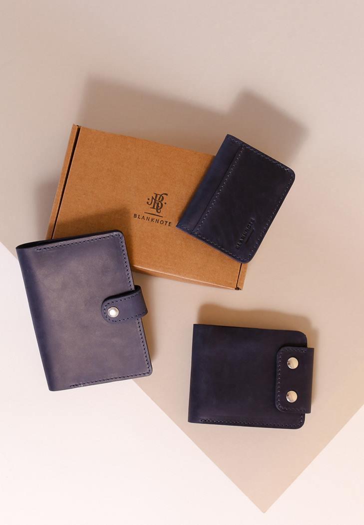 Фото Мужской подарочный набор кожаных аксессуаров Кёльн (BN-set-access-26-nn)