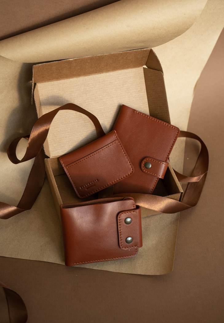 Фото Мужской подарочный набор кожаных аксессуаров Чикаго
