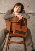 Женская кожаная сумка Ester коньячно-коричневая винтажная (TW-Ester-kon-brw-crz) The Wings фото