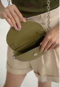 Фото Женская кожаная мини-сумка Сhris micro зеленая (TW-Chris-mi-gr)