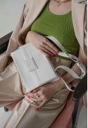 Фото Женская кожаная сумка Kelly белая (TW-Kelly-light)