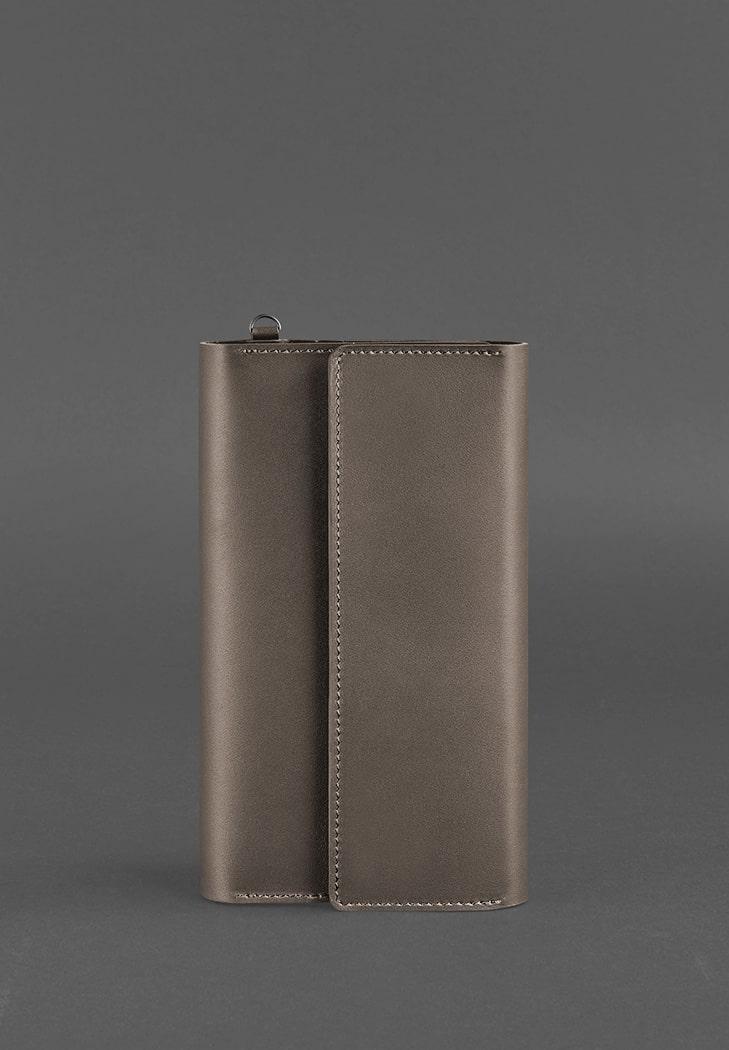 Фото Кожаный клатч-органайзер (Тревел-кейс) 5.1 темно-бежевый  BlankNote