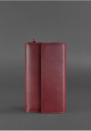 Кожаный клатч-органайзер (Тревел-кейс) 5.1 бордовый