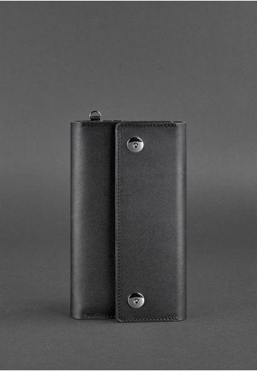 Кожаный клатч-органайзер (Тревел-кейс) 5.0 черный