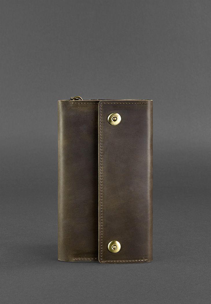 Фото Кожаный клатч-органайзер (Тревел-кейс) 5.0 темно-коричневый