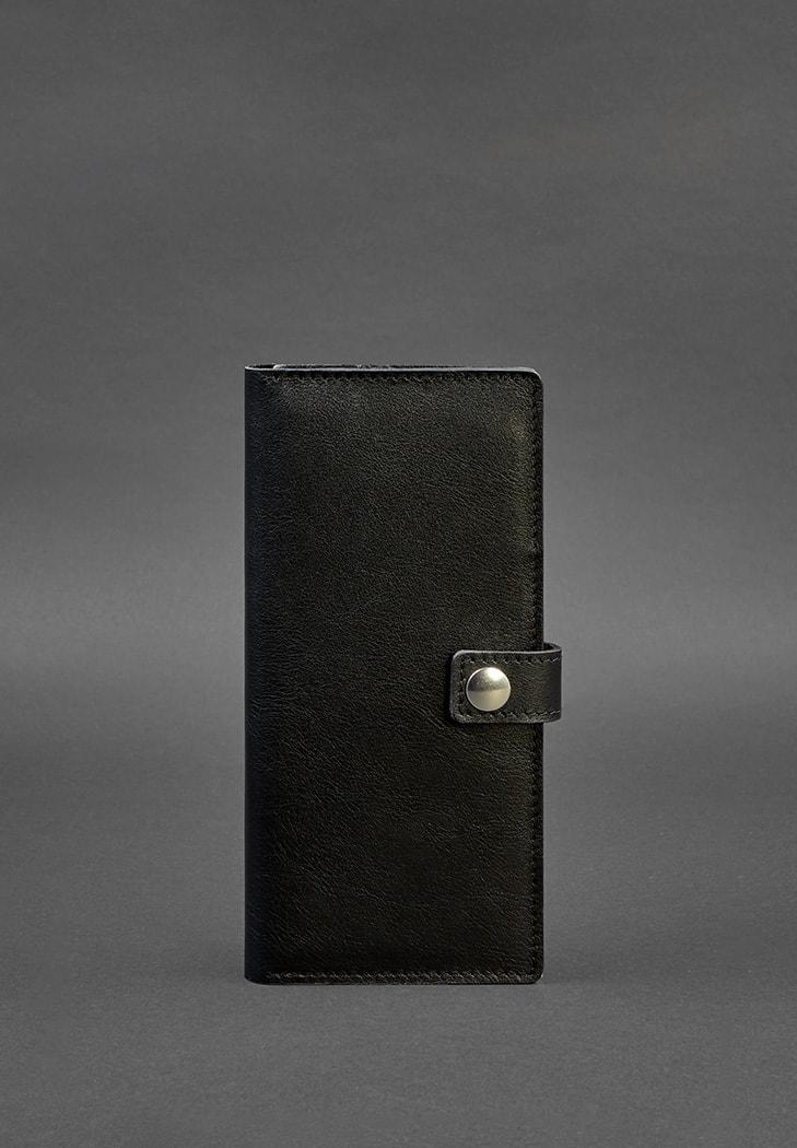 Фото Кожаный Тревел-кейс (органайзер для документов) 6.0 черный