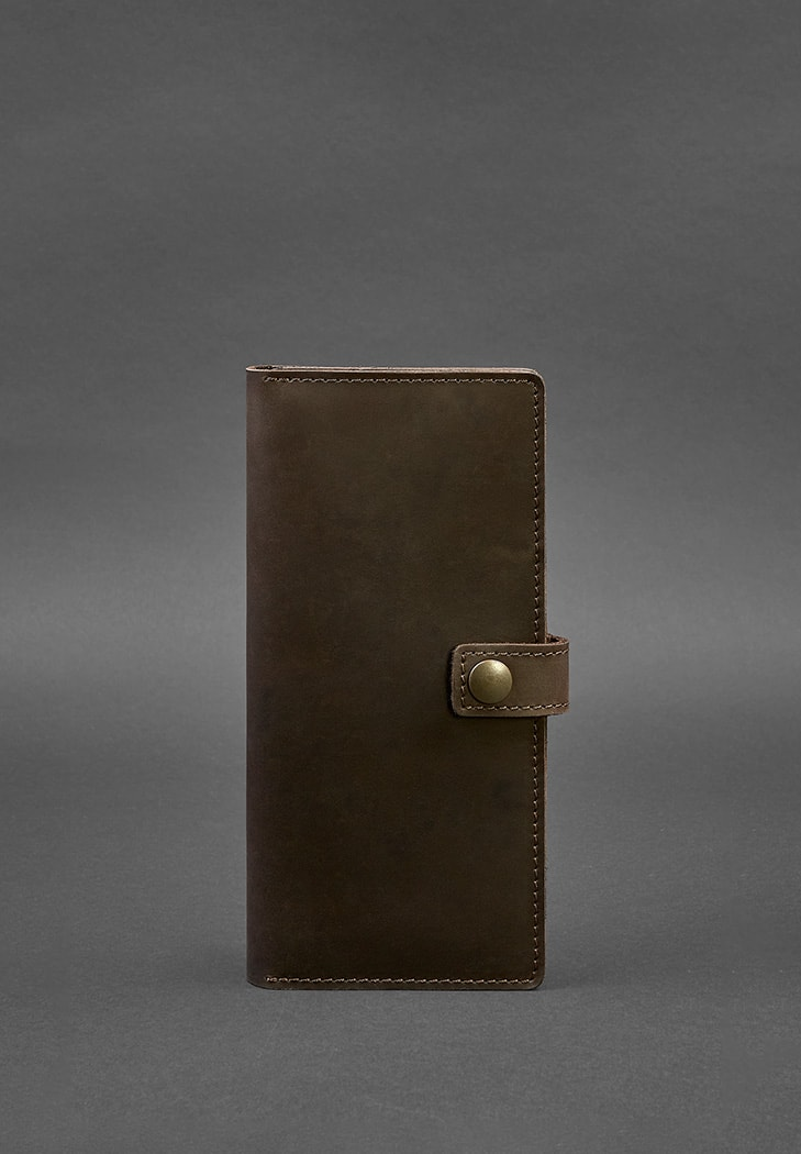 Фото Кожаный Тревел-кейс (органайзер для документов) 6.0 темно-коричневый BlankNote