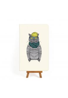 Тетрадь Hipster cat #2
