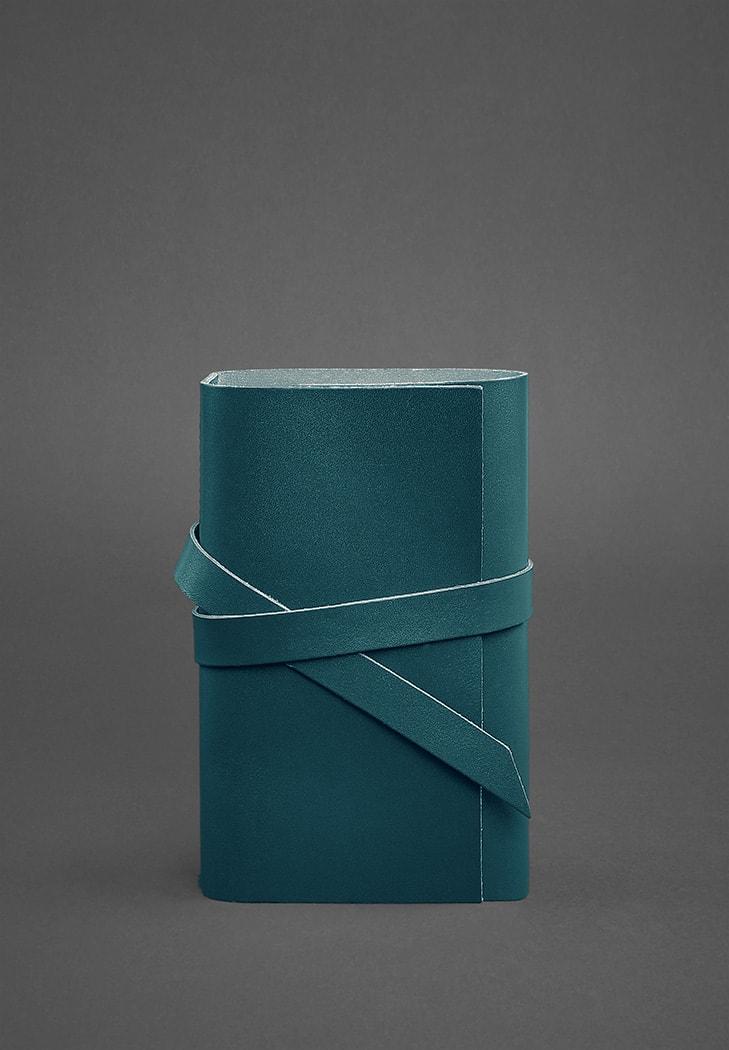 Фото Кожаный блокнот (Софт-бук) 1.0 Зеленый Краст