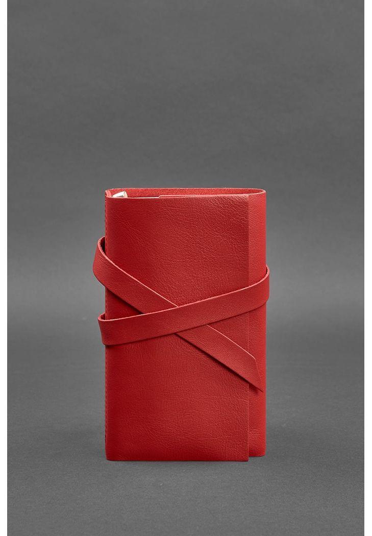 Фото Женский кожаный блокнот (Софт-бук) 1.0 Красный