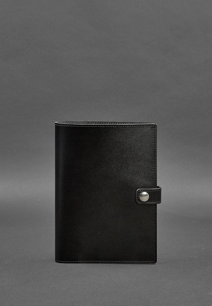Шкіряна папка (софт-бук) для блокнота і планшета 10.0 Вугляно-чорна фото