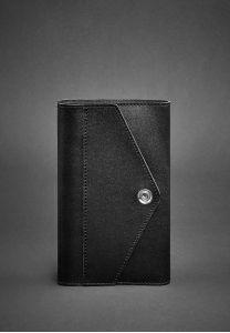 Кожаный блокнот (Софт-бук) 2.0  Графит - черный